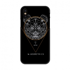 iPhone X  Bear Black by W-Geometrics