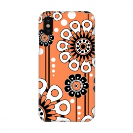 iPhone X  Orange Flowers by Shelly Bremmer ()