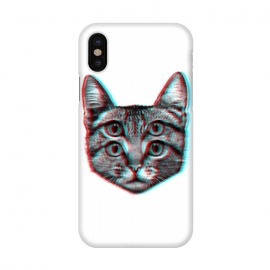 iPhone X  3D Cat by  (cat,pussy,feline,cats,meow,miau,gato,3d)