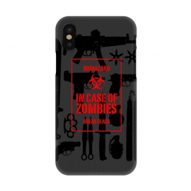 iPhone X  In case of zombies break glass by  ()