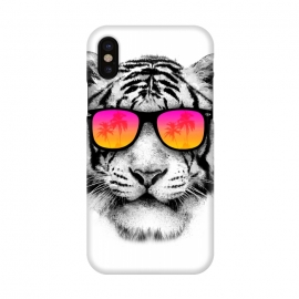 iPhone X  The Coolest Tiger by Mitxel Gonzalez (tiger,cool, tigre,beach,summer,coolest,funny,big cat,cat)
