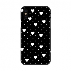 iPhone X  Pin Point Hearts White by  ()