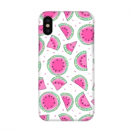 iPhone X  Watermelons by Laura Grant (watermelon ,fruit,tropical)