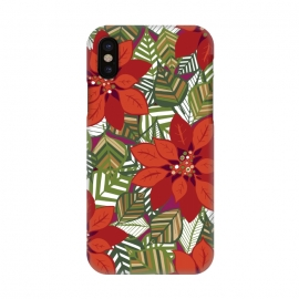 iPhone X  Poinsettia by Rhiannon Pettie ()