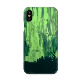 iPhone X  Lime Green Northern Lights by ANoelleJay ()