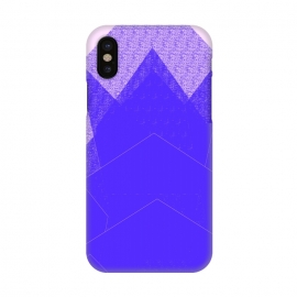iPhone X  Sunset Mountain Blue by ANoelleJay ()