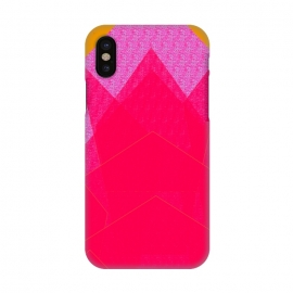 iPhone X  Sunset Mountain fuschia by ANoelleJay ()