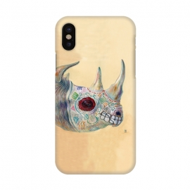 iPhone X  Day of the Dead Rhino by Brandon Keehner ()