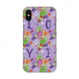 iPhone X  Spring Love by Kimrhi Studios (LOVE,spring,floral,flowers)