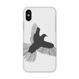 iPhone X  Bird Grey Poster Grey by Florent Bodart ()