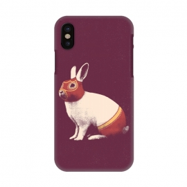 iPhone X  Rabbit Wrestler SQUARE by Florent Bodart ()