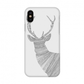 iPhone X  Stag Grey Poster grey by Florent Bodart ()