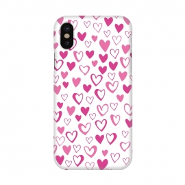 iPhone X  Lovehearts by Kimrhi Studios