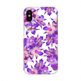 iPhone X  Vintage Floral Violet by Amaya Brydon (orchid,floral,nature,purple,pink,botanical)