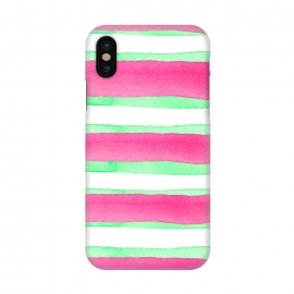 iPhone X  Peppermint Candy by Amaya Brydon