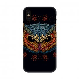 iPhone X  Owl Face by Q-Artwork
