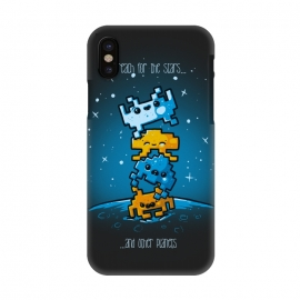 iPhone X  Cute Invaders by Q-Artwork