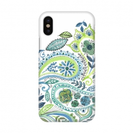 iPhone X  Watercolour Paisley by Laura Grant