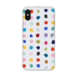 iPhone X  Polka Daubs by Ann Marie Coolick (polkadots,polka dots,circles,colorful,pop art,multicolor,confetti)