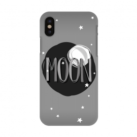 iPhone X  Bright Moon & Stars by Dellán