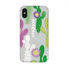 iPhone X  Neutral Cakti by Kimrhi Studios (Cactus,cacti,succulent,geometric)