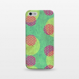 iPhone 5/5E/5s  Textured Circles by Nacho Filella Design