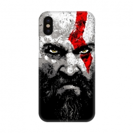 iPhone X  Kratos by Mitxel Gonzalez (kratos,god of war,videogames,gamer,gamers,fan art,videojuegos,godofwar)