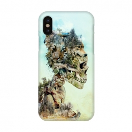 iPhone X  Nature Skull by Riza Peker (skull,animals,tiger,falcon,wolf,rabbit,surreal,art,collage)