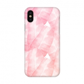 iPhone X  banana leaves pink by Rui Faria