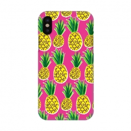 iPhone X  Painted pineapples by Laura Grant (pineapple,fruit,tropical,summer)