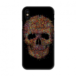 iPhone X  Acid Skull by  (skull, acid,music,pixel,pixels,smite,electronic,underground,colorful,horror,particles,effect,color,8 bit,lsd)