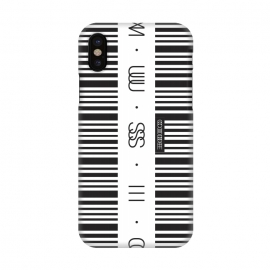 iPhone X  Music Code by  (Barcode,code,music,sound,electronic,zebra,secret,audio,black,white,DJ,deejay,tune,mp3,aiff,wav,track,mix,set)
