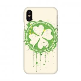 iPhone X  Patrick's clover by  (Patrick,clover,Saint Patrick's Day,day,Saint,festival,parade,holydays,irland,irish)