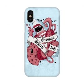iPhone X  Shark vs Octopus by Sitchko Igor