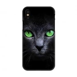iPhone X  Black Cat by  (Cat,Black,Dark,Green,Eyes,wild,glass,meow,look)