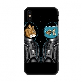 iPhone X  Astronaut cat and fish by Coffee Man