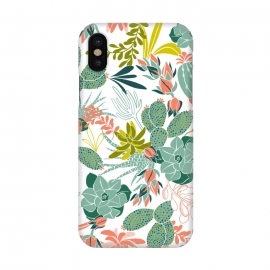 iPhone X  Succulent Garden White by Heather Dutton