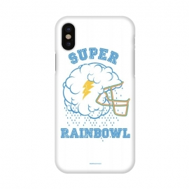 iPhone X  [ba dum tees] Super Rainbowl by Draco