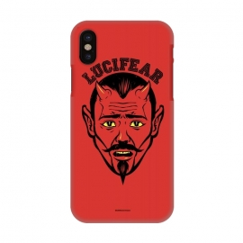 iPhone X  [ba dum tees] Lucifear by Draco