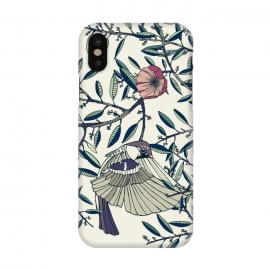 iPhone X  Among the Olive Trees by Stefania Pochesci (Poppies,bird,Branches,nature,vintage,floral,unique,elegant,classy,fashion,phonecase,decor,design,gift,caseiphone,samsungcase,customcase,art,accessories,techaccessories,style,Vintage,Animals)