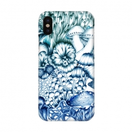 iPhone X  A Medley of Mushrooms in Blue by ECMazur