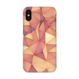 iPhone X  Meduzzle: Blond by  (Geometry,vector,meduzzle,texture,triangle,triangles,minimal,abstract,colorful,geo)