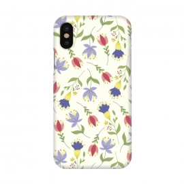 iPhone X  Floral Toss by TracyLucy Designs (floral,pattern,spring,summer,nature)