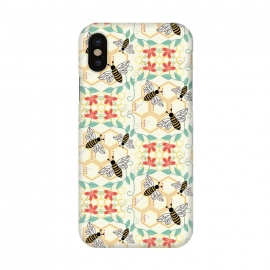 iPhone X  Honeybee by TracyLucy Designs (Honey,bees,instects,summer ,pattern)