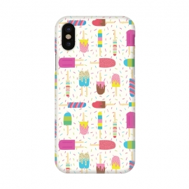 iPhone X  Ice Cream Social by TracyLucy Designs (ice cream,summer,sprinkles,pattern,food)