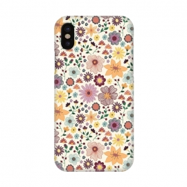 iPhone X  Wild Bloom by TracyLucy Designs (floral,blooms,pattern,nature)