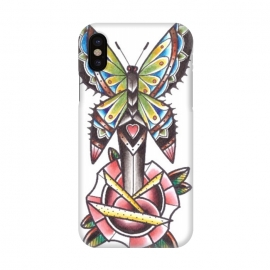 iPhone X  Butterfly dagger rose by Evaldas Gulbinas