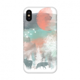 iPhone X  Winter Paint by Elizabeth Dioquinto