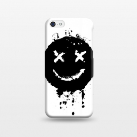 iPhone 5C  Confused Smile by Sitchko Igor (Music,smile, emoji,confused,happy,black,white,blackandwhite,minimalism,minimal,techno,acid,splash,one,color)