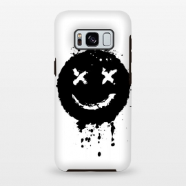 Galaxy S8 plus  Confused Smile by  (Music,smile, emoji,confused,happy,black,white,blackandwhite,minimalism,minimal,techno,acid,splash,one,color)